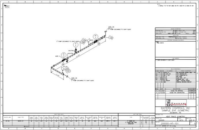 Heat trace engineering schematic